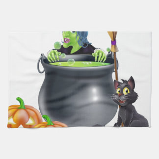 Escena de Halloween de la bruja Toallas