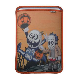 Escena de Halloween del vintage Fundas Para Macbook Air