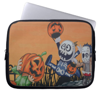 Escena de Halloween del vintage Funda Ordendadores