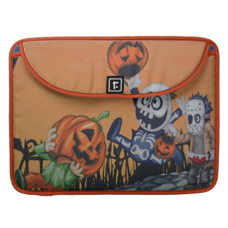 Escena de Halloween del vintage Fundas Para Macbook Pro