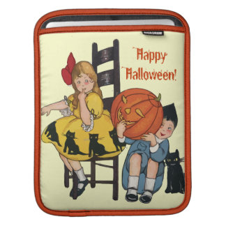 Escena de Halloween del vintage Fundas Para iPads
