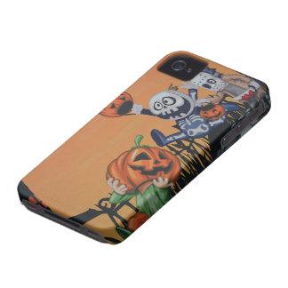 Escena de Halloween del vintage iPhone 4 Carcasa