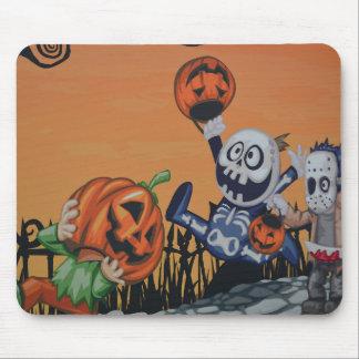 Escena de Halloween del vintage Alfombrillas De Ratones