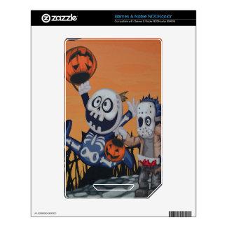 Escena de Halloween del vintage Calcomanías Para NOOK Color