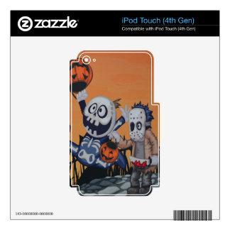 Escena de Halloween del vintage Calcomanías Para iPod Touch 4G