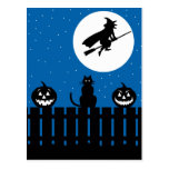 Escena de Halloween Tarjetas Postales