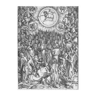 Escena de la apocalipsis, adoración del lona estirada galerías