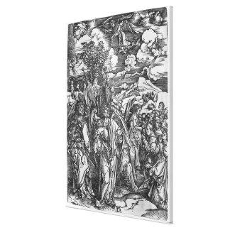 Escena de la apocalipsis lienzo envuelto para galerías
