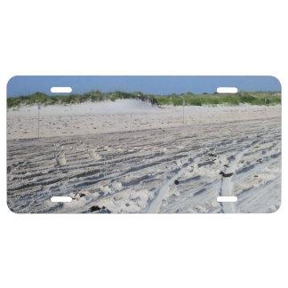 Escena de la arena de la playa (OBX, NC) Placa De Matrícula