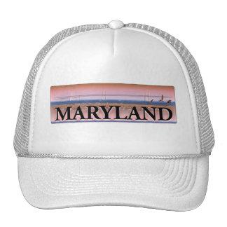 Escena de la bahía de Chesapeake de Maryland Gorro De Camionero