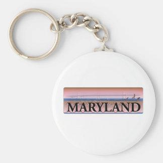 Escena de la bahía de Chesapeake de Maryland Llavero Personalizado