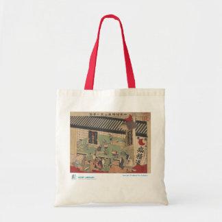 Escena de la bolsa de asas japonesa de la farmacia