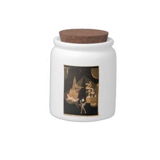 Escena de la bruja de Paul Klee- Jarras Para Caramelos