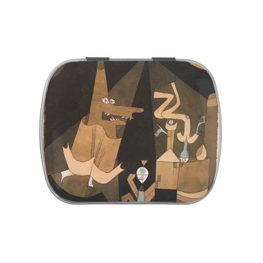 Escena de la bruja de Paul Klee- Frascos De Caramelos