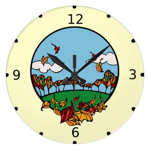 Escena de la caída reloj
