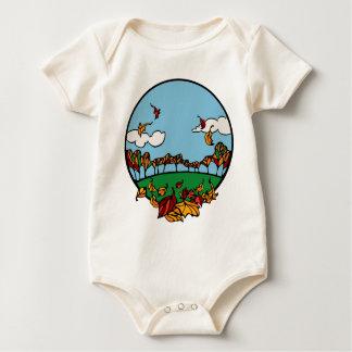 Escena de la caída traje de bebé