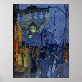 Escena de la calle, a las cinco de la tarde, 1887 posters