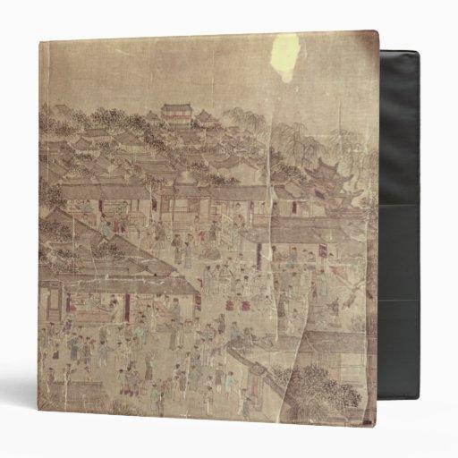 Escena de la calle, chino, dinastía de Ming