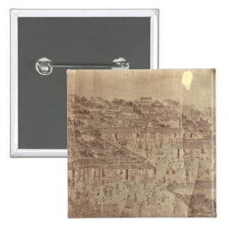 Escena de la calle, chino, dinastía de Ming Pin