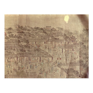 Escena de la calle, chino, dinastía de Ming Postales