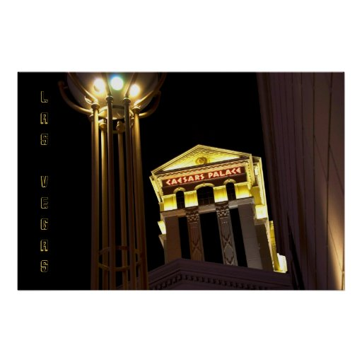 Escena de la calle de Caesars Las Vegas en el post Póster