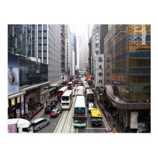 Escena de la calle de Hong Kong Postal