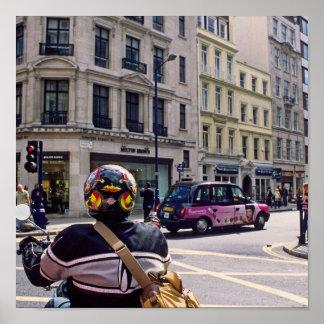 Escena de la calle de Londres Impresiones
