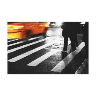 Escena de la calle de New York City Impresiones De Lienzo