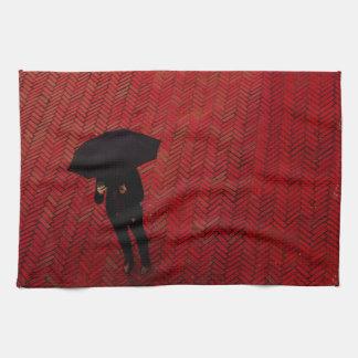Escena de la calle de New York City, paraguas del Toallas De Cocina