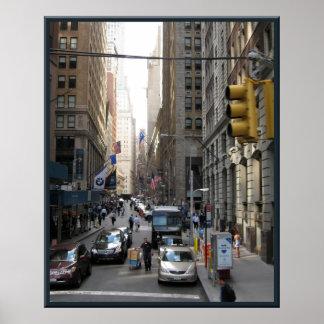 Escena de la calle de Nueva York Impresiones