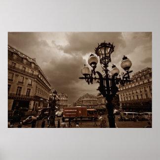 Escena de la calle de París (i) Póster