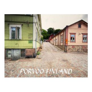 Escena de la calle de Porvoo Finlandia Tarjetas Postales