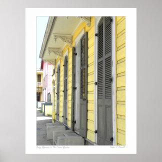 Escena de la calle del barrio francés de New Póster