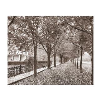 Escena de la calle del otoño, 1899 impresiones de lienzo