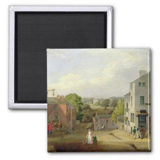 Escena de la calle en Chorley, Lancashire, con una Imán Cuadrado
