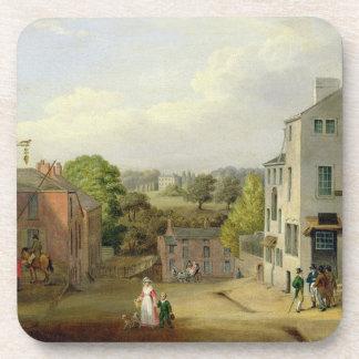 Escena de la calle en Chorley, Lancashire, con una Posavaso