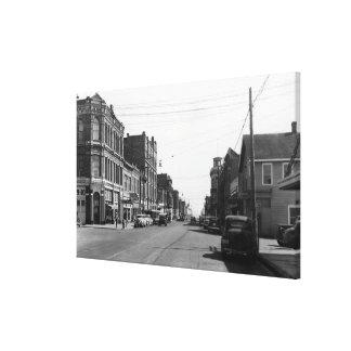 Escena de la calle en el puerto Townsend, fotograf Impresion En Lona