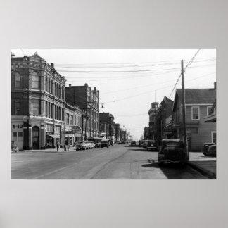Escena de la calle en el puerto Townsend, fotograf Impresiones