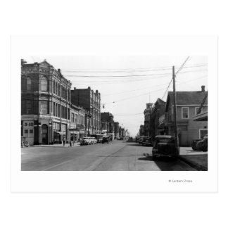 Escena de la calle en el puerto Townsend, Tarjetas Postales
