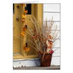Escena de la calle - otoño tarjeta
