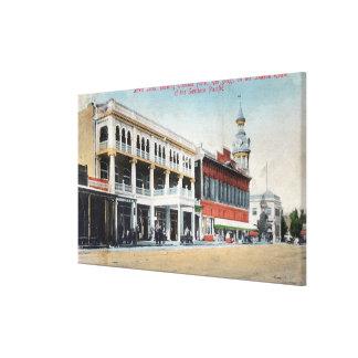 Escena de la calle que muestra el hotel de Tremont Lienzo Envuelto Para Galerias