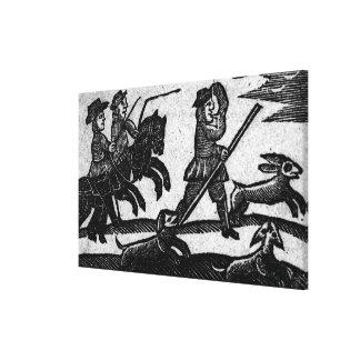 Escena de la caza, 'un libro de las baladas de Rox Lona Estirada Galerías