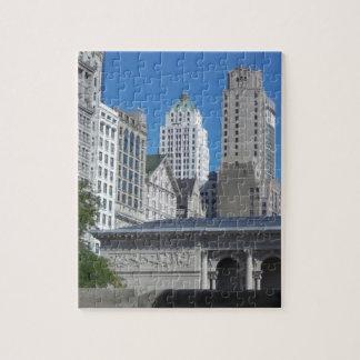 Escena de la ciudad de Chicago Rompecabeza Con Fotos