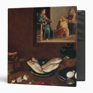 "Escena de la cocina con Cristo Carpeta 1 1/2"""