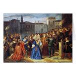 Escena de la confrontación tarjeta de felicitación