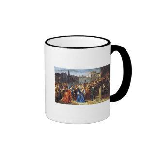 Escena de la confrontación taza de café