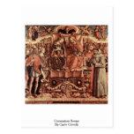 Escena de la coronación de Carlo Crivelli Tarjeta Postal
