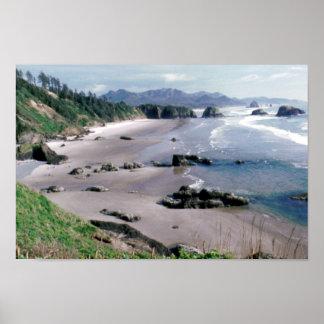 Escena de la costa de Oregon Póster