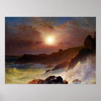 Escena de la costa, desierto del soporte por la ig impresiones