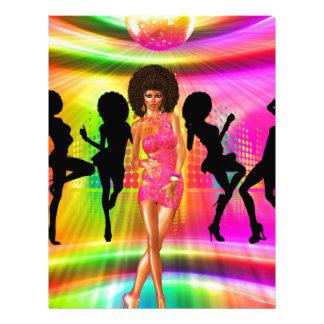 Escena de la danza del disco con las siluetas, plantillas de membrete